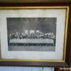 Arte: GRAN GRABADO 1899 ULTIMA CENA SANTA DE LEONARDO DA VINCI GRABADOR KINZLI FRERES NUMERADO 6074. Lote 93145375