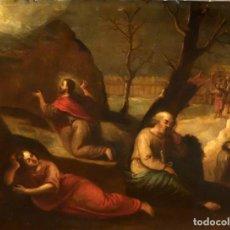 Arte: ESCUELA ESPAÑOLA DEL SIGLO XVII. OLEO SOBRE COBRE. LA ORACION EN EL HUERTO. Lote 93253675