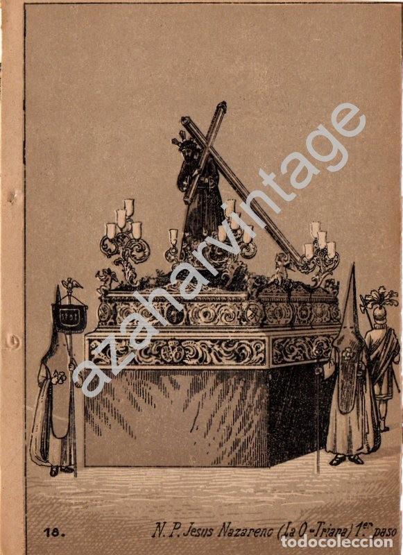 SEMANA SANTA SEVILLA, SIGLO XIX, LITOGRAFIA A TRES TINTAS NTRO.PADRE JESUS NAZARENO, LA O,108X150MM (Arte - Arte Religioso - Litografías)