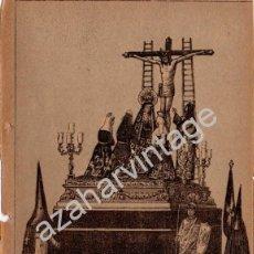 Arte: SEMANA SANTA SEVILLA, SIGLO XIX, LITOGRAFIA A TRES TINTAS, SAGRADO DECRETO,TRINIDAD,108X150MM. Lote 93327670