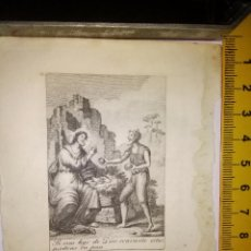 Arte: ESPECTACULAR MINIATURA GRABADO RELIGIOSO SIGLO XIX SEMANA SANTA - CONVIERTE ESTAS PIEDRAS EN PAN . Lote 93560345