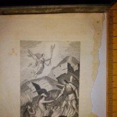 Arte: ESPECTACULAR MINIATURA GRABADO RELIGIOSO SIGLO XIX DANOS SEÑOR ETERNO DESCANSO ANIMAS PULTAGORIO ARC. Lote 150093088