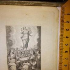 Arte: ESPECTACULAR MINIATURA GRABADO RELIGIOSO SIGLO XIX - VIRGEN ASCIENDE A LOS CIELOS ASENCION ASUNCION . Lote 93590755