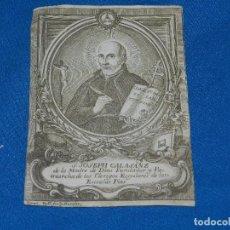 Arte: (ALB1) GRABADO RELIGIOSO - S JOSEPH CALASANZ DE LA MADRE DE DIOS FUNDADOR DE LAS ESCUELAS PIAS. Lote 93591000