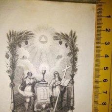 Arte: ESPECTACULAR MINIATURA GRABADO RELIGIOSO SIGLO XIX - FE Y RELIGION . Lote 93591595