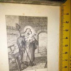 Arte: ESPECTACULAR MINIATURA GRABADO RELIGIOSO SIGLO XIX - SAN JOSE Y EL NIÑO JESUS. Lote 93591735