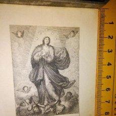 Arte: ESPECTACULAR MINIATURA GRABADO RELIGIOSO SIGLO XIX - CONCEPCION DE LA VIRGEN . Lote 98713890