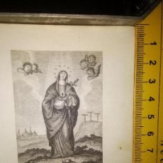 Arte: ESPECTACULAR MINIATURA GRABADO RELIGIOSO SIGLO XIX - VIRGEN MATER DOLOROSA . Lote 104733784