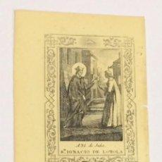 Arte: AÑO 1863 - GRABADO RELIGIOSO SAN IGNACIO DE LOYOLA - RELIGIÓN COMPAÑÍA DE JESÚS. Lote 93598625