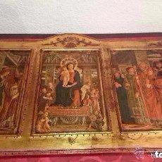 Arte: ANTIGUO TRÍPTICO RELIGIOSO DE MADERA. 78 CMS.. Lote 93693150