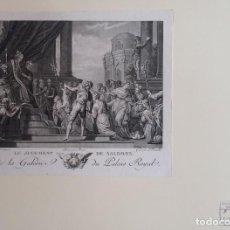 Arte: GRABADO DE CROTELLE SOBRE UNA OBRA DE VERONESSE: EL JUICIO DE SALOMÓN / 1780/ SELLO HÚMEDO. Lote 93696285