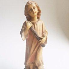 Arte: ANTIGUO NIÑO JESUS, OJOS DE PORCELANA, ALTO DE 24 CMTS. Lote 93709770