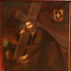 Arte: FRANCISCO MIGUEL XIMENEZ (SEVILLA, 1717 - 1793) OLEO SOBRE TELA. CRISTO DEL PAÑO. Lote 93771975