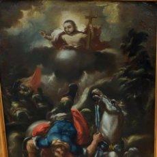 Arte: ESCUELA ESPAÑOLA DEL SIGLO XVIII. OLEO SOBRE TELA. LA CONVERSION DE SAN PABLO. Lote 93775560