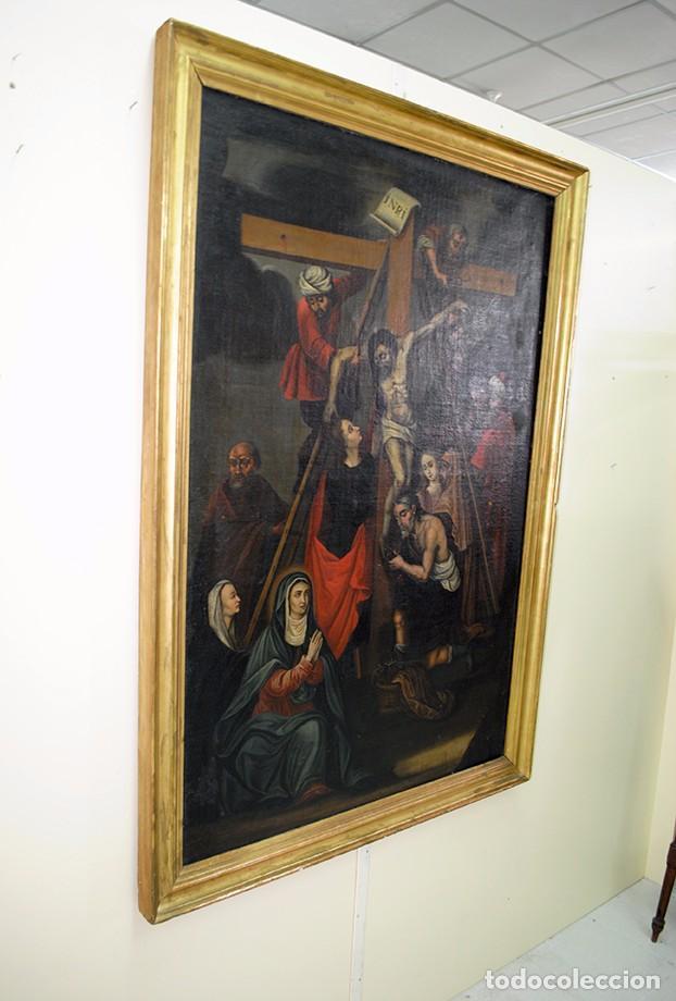 Arte: ÓLEO SOBRE LIENZO SIGLO XIX - EL DESCENDIMIENTO DE JESÚS - Foto 7 - 93789965