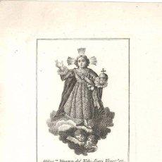 Arte: GRABADO IMAGEN DEL NIÑO JESÚS VENERADO EN LA IGLESIA DE LA SANGRE VALENCIA SIGLO XIX TOMÁS ROCAFORT. Lote 93978960