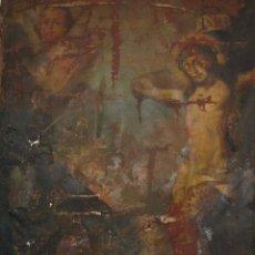 Arte: CALVARIO CRISTO OLEO ANTIGUO OLEO SIGLO XVII PINTURA ANTIGUA BARROCA 150 X 110 SIN MARCO. Lote 92218990