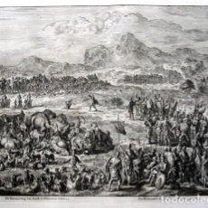 Arte: 1729 - GRABADO BIBLIA - ENCUENTRO DE JACOB CON ESAU - LUYKEN - ENGRAVING - GRAVURE - 580X520 MM. Lote 94029700
