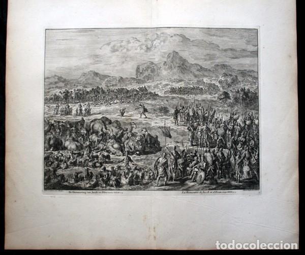 Arte: 1729 - GRABADO BIBLIA - ENCUENTRO DE JACOB CON ESAU - LUYKEN - ENGRAVING - GRAVURE - 580x520 mm - Foto 2 - 94029700
