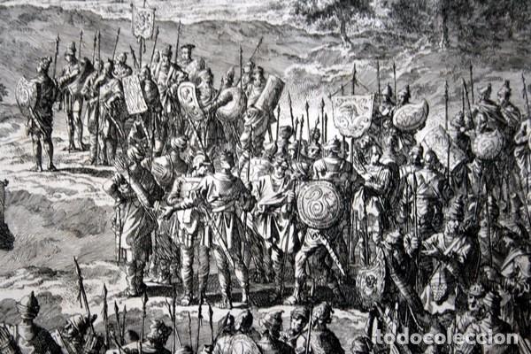 Arte: 1729 - GRABADO BIBLIA - ENCUENTRO DE JACOB CON ESAU - LUYKEN - ENGRAVING - GRAVURE - 580x520 mm - Foto 4 - 94029700