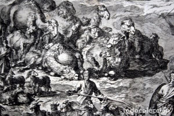 Arte: 1729 - GRABADO BIBLIA - ENCUENTRO DE JACOB CON ESAU - LUYKEN - ENGRAVING - GRAVURE - 580x520 mm - Foto 5 - 94029700