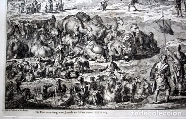 Arte: 1729 - GRABADO BIBLIA - ENCUENTRO DE JACOB CON ESAU - LUYKEN - ENGRAVING - GRAVURE - 580x520 mm - Foto 6 - 94029700