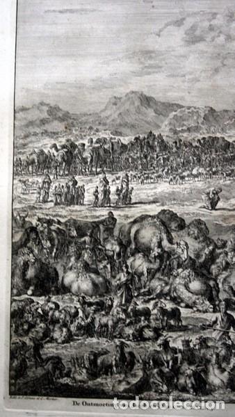 Arte: 1729 - GRABADO BIBLIA - ENCUENTRO DE JACOB CON ESAU - LUYKEN - ENGRAVING - GRAVURE - 580x520 mm - Foto 7 - 94029700