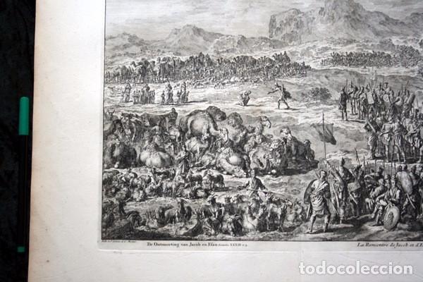 Arte: 1729 - GRABADO BIBLIA - ENCUENTRO DE JACOB CON ESAU - LUYKEN - ENGRAVING - GRAVURE - 580x520 mm - Foto 8 - 94029700