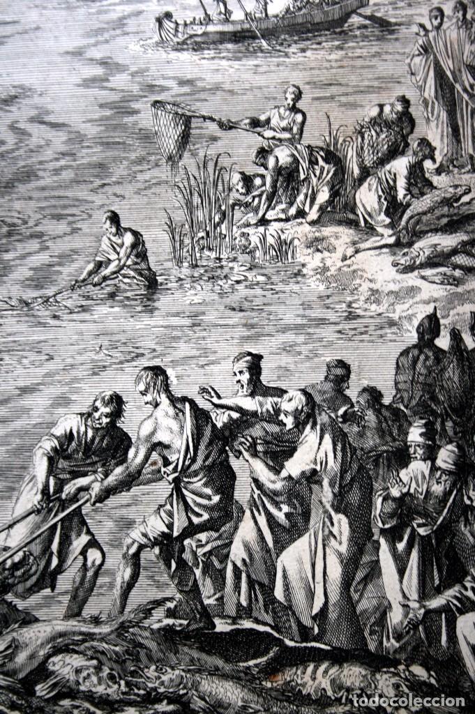 Arte: 1729 - MOISES CONVIERTE LAS AGUAS EN SANGRE - BIBLIA - LUYKEN - ENGRAVING - GRAVURE - Foto 6 - 94030170