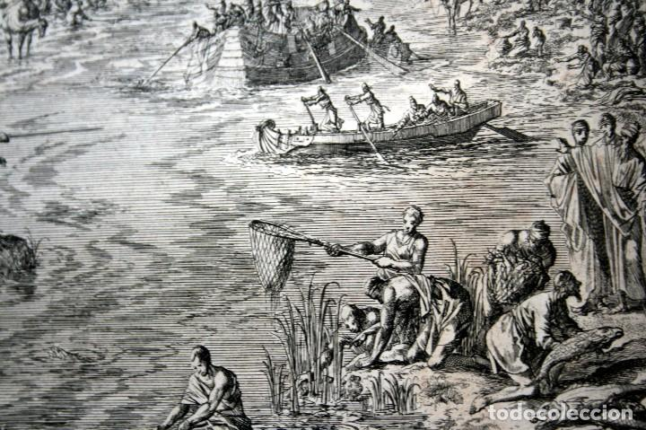 Arte: 1729 - MOISES CONVIERTE LAS AGUAS EN SANGRE - BIBLIA - LUYKEN - ENGRAVING - GRAVURE - Foto 8 - 94030170