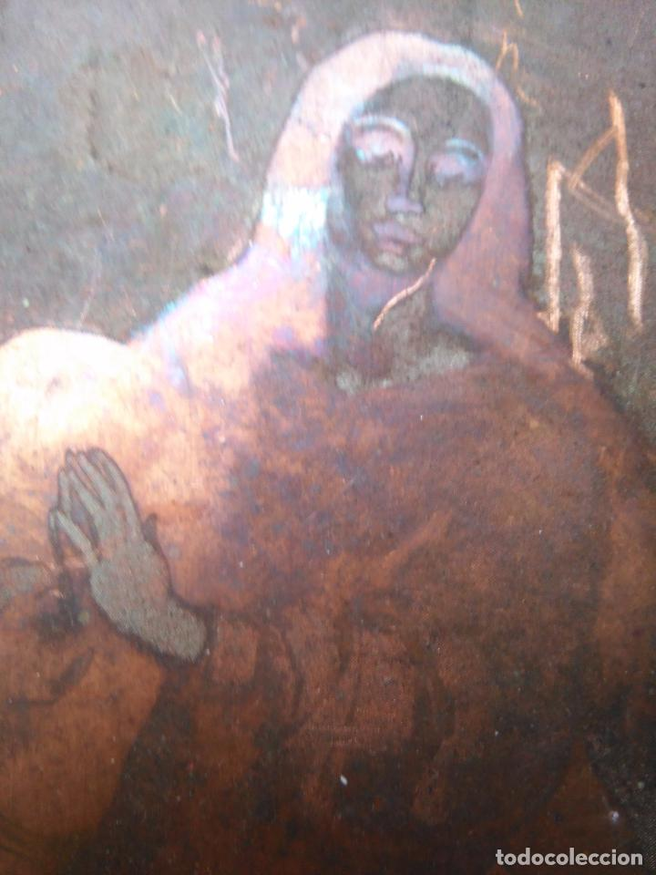 Arte: plancha religiosa cobre original virgen purisima inmaculada concepcion para realizacion de grabados - Foto 2 - 94264240