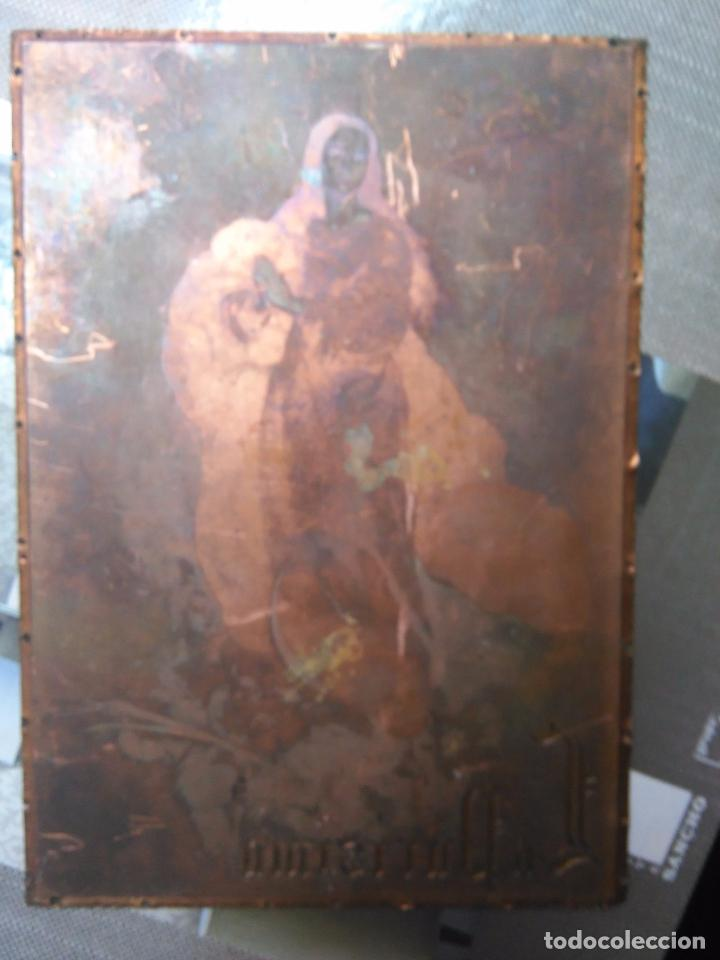 Arte: plancha religiosa cobre original virgen purisima inmaculada concepcion para realizacion de grabados - Foto 5 - 94264240