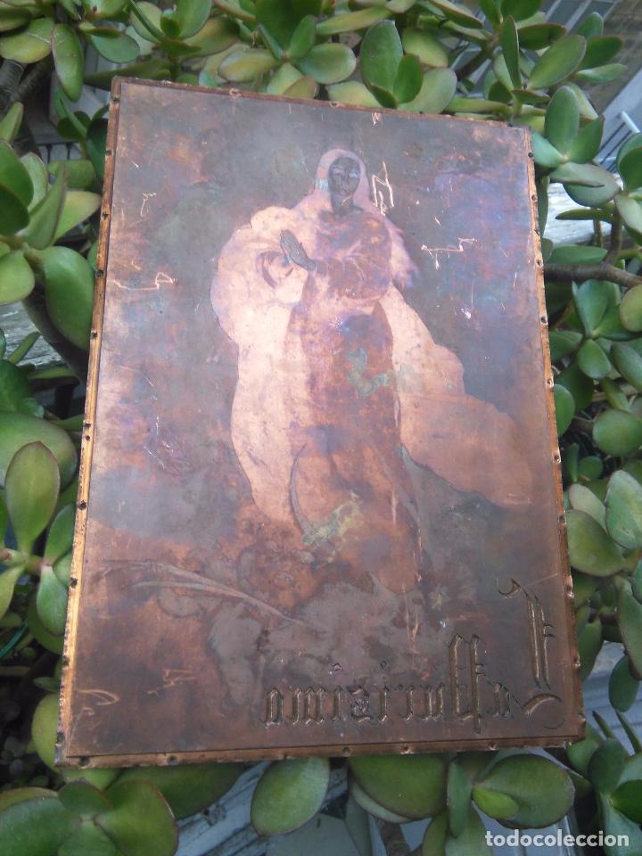 Arte: plancha religiosa cobre original virgen purisima inmaculada concepcion para realizacion de grabados - Foto 7 - 94264240