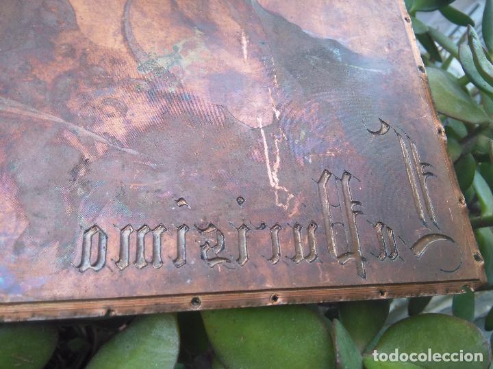 Arte: plancha religiosa cobre original virgen purisima inmaculada concepcion para realizacion de grabados - Foto 9 - 94264240