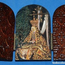 Arte: TRIPTICO VIRGEN DE LAS ANGUSTIAS DE GRANADA/CAPILLA DE VIAJE-03. Lote 94345974