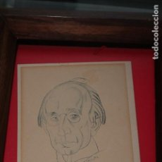 Arte: VÁZQUEZ DÍAZ, RETRATO DE GREGORIO MARAÑÓN, DIBUJO ORIGINAL EN PAPEL, FIRMADO, 16,5 X 13 CTM.. Lote 86869480