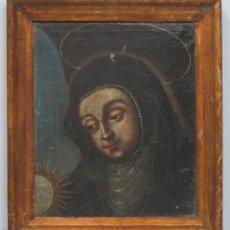 Arte: ANTIGUO Y BONITO OLEO S/ LIENZO. SANTA CLARA. SIGLO XVII-XVIII. Lote 94451494
