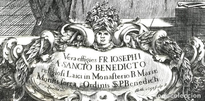 Arte: GRABADO ORIGINAL, AÑO 1755, MONTAÑA VIRGEN DE MONTSERRAT,SAN BENITO,HERMITA Y CRISTO DIBUJO ZORRILLA - Foto 5 - 94537967