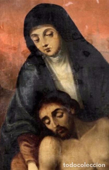 Arte: DESCENDIMIENTO. CRISTO. SIGLO XVIII. ESCUELA ESPAÑOLA. LIENZO 103X71. MARCO DE ÉPOCA. - Foto 3 - 94576335