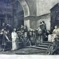 Arte: JESÚS ANTE PILATOS. GRABADO. C. WALTNER. PINTOR MUNKAKSY. IMP. SEDELMEYER. PARIS. 1883. Lote 94714739