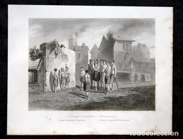 Arte: 1863 - GRABADO - JOVENES CATEQUISTAS AMERICANOS - 175x136mm - Foto 2 - 94725111