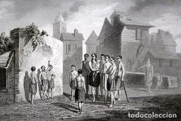 Arte: 1863 - GRABADO - JOVENES CATEQUISTAS AMERICANOS - 175x136mm - Foto 3 - 94725111