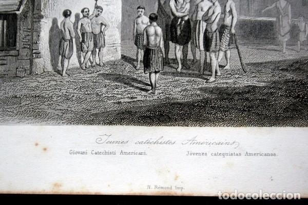 Arte: 1863 - GRABADO - JOVENES CATEQUISTAS AMERICANOS - 175x136mm - Foto 4 - 94725111