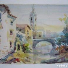 Arte: ACUARELA FIRMADA J. PEÑARREAL, PAISAJE . Lote 94795107