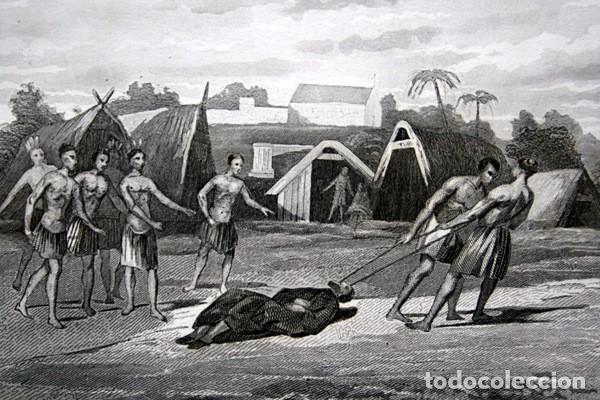 1863 - GRABADO - MARTIRIO DE DOMINGO - 180X137MM (Arte - Arte Religioso - Grabados)