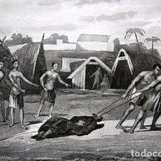 Arte: 1863 - GRABADO - MARTIRIO DE DOMINGO - 180X137MM. Lote 94874299