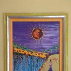 Arte: BONITA PINTURA ARTE NAIF ORIGINAL,LOS SUEÑOS HECHOS REALIDAD.CUADRO.71X62. SI ES DE MURCIA PUEDE RE. Lote 95004391