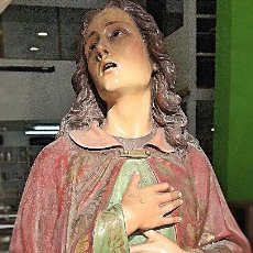 Arte: PRECIOSA TALLA DE SAN JUAN APÓSTOL EVANGELISTA - 1900. Lote 95057131