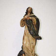 Arte: FIGURA RELIGIOSA ANTIGUA VIRGEN INMACULADA DE OLOT. Lote 95063223