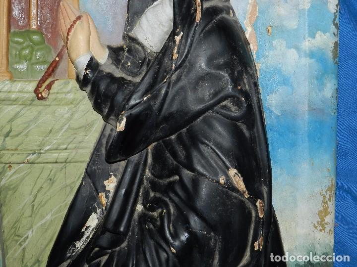 Arte: (M) TALLA DE MADERA RELIGIOSA S.XVIII - S.XIX EN MADERA , 52 X 37 CM, SWEÑALES DE USO - Foto 8 - 95069359